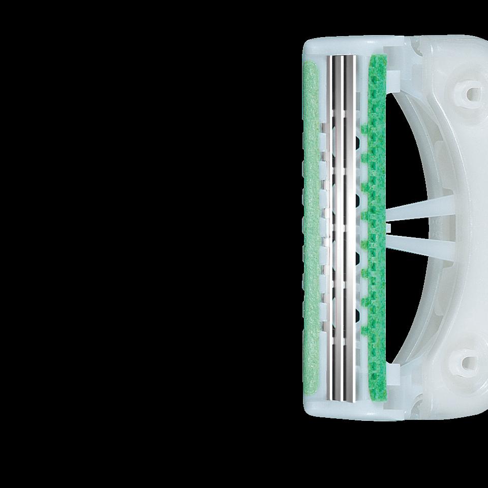 Lubricating strip to enhance razor glide